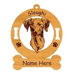 3996 Sloughi Head Ornament Personalized with Your Dog's Name